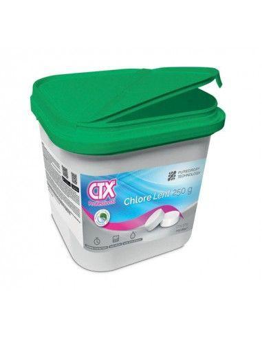 Chlore lent galet de 250 g - Pure Drop Technologie - 4 Kg CTX-370SB