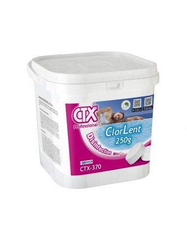 Chlore lent galet de 250 g - 5 Kg CTX-370