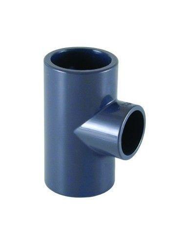PVC T-stuk 90° te lijmen Ø50 mm