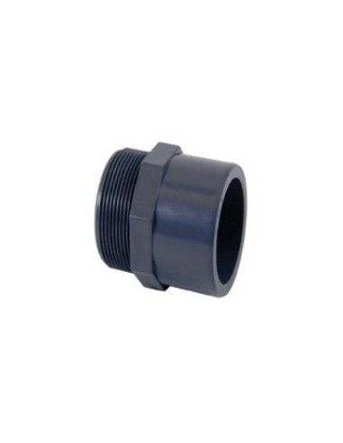 "Embout PVC fileté mâle à coller Ø63-Ø50 mm x 2"""