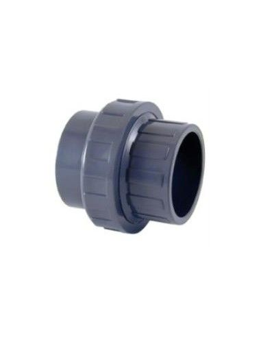 PVC 3-delig koppelstuk, te lijmen Ø50 mm