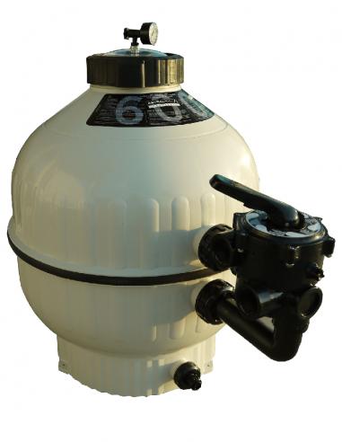 Filtre à sable Cantabric Ø 600 mm - 14 m³/h (Side)