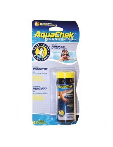 Testeur Aquachek - peroxyde 3 en 1 - 25 bandelettes